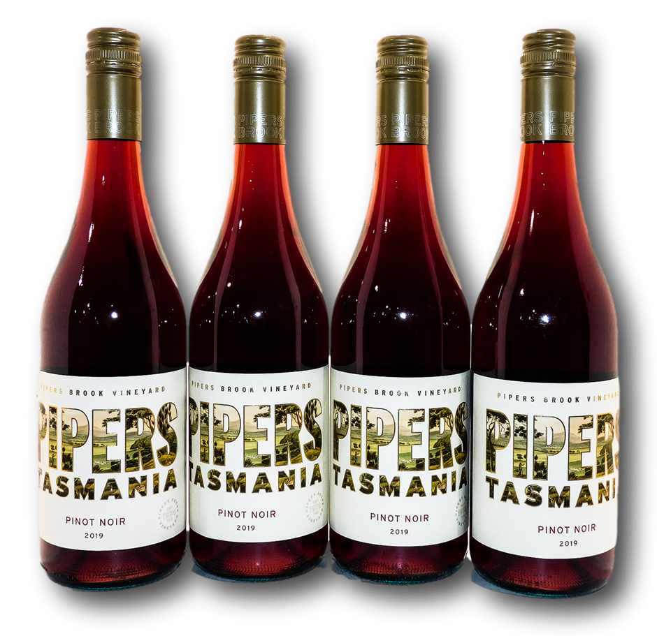Pipers Brook Pipers Pinot Noir 2019 (4x 750mL), Tasmania
