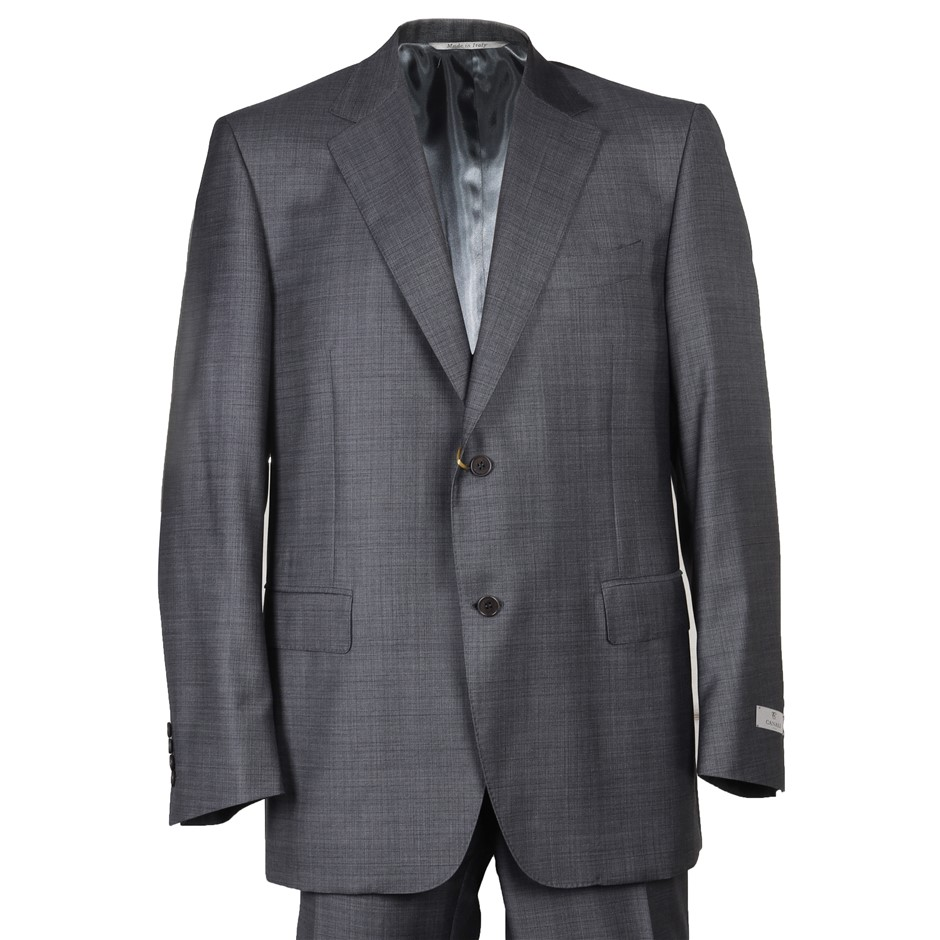 CANALI Men`s Suit, Size 52S, RRP $2495, 100% Wool, Colour: Grey Pattern. N.