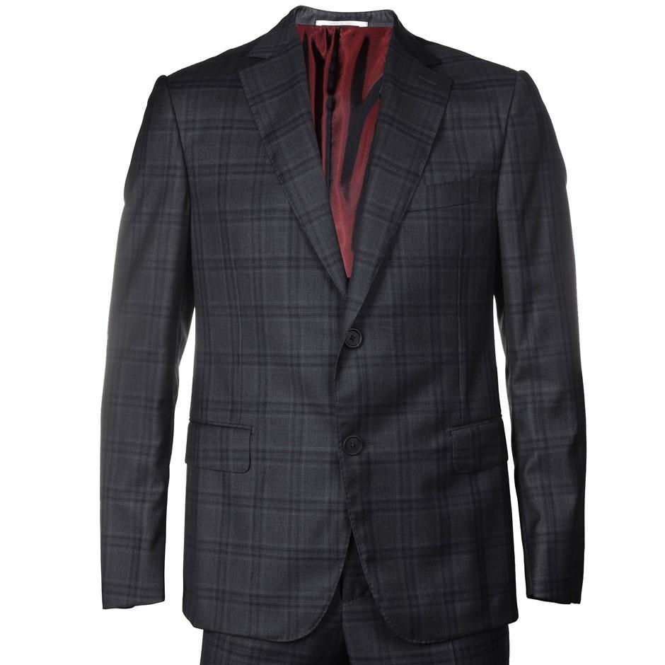 PAL ZILERI Men`s Suit, 100% Wool, Size 52S EU/ 42 UK, RRP $2495,Colour: Nav