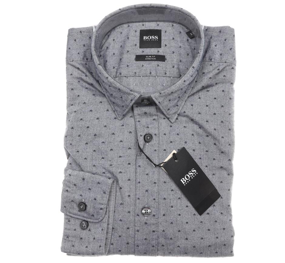 HUGO BOSS Men`s L/S Dress Shirt ,Size S, Slim Fit, Stretch, RRP $199, Cotto