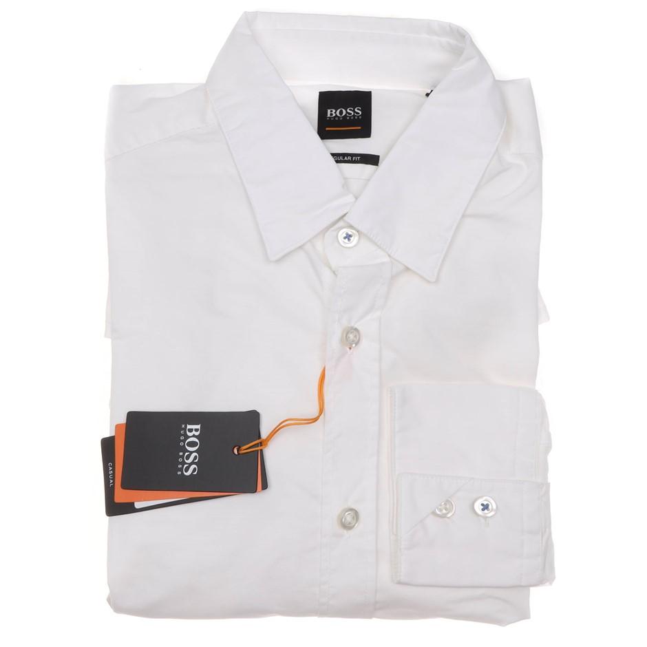 HUGO BOSS Men`s L/S Dress Shirt ,Size XL, Regular Fit, RRP $225, Cotton, Co