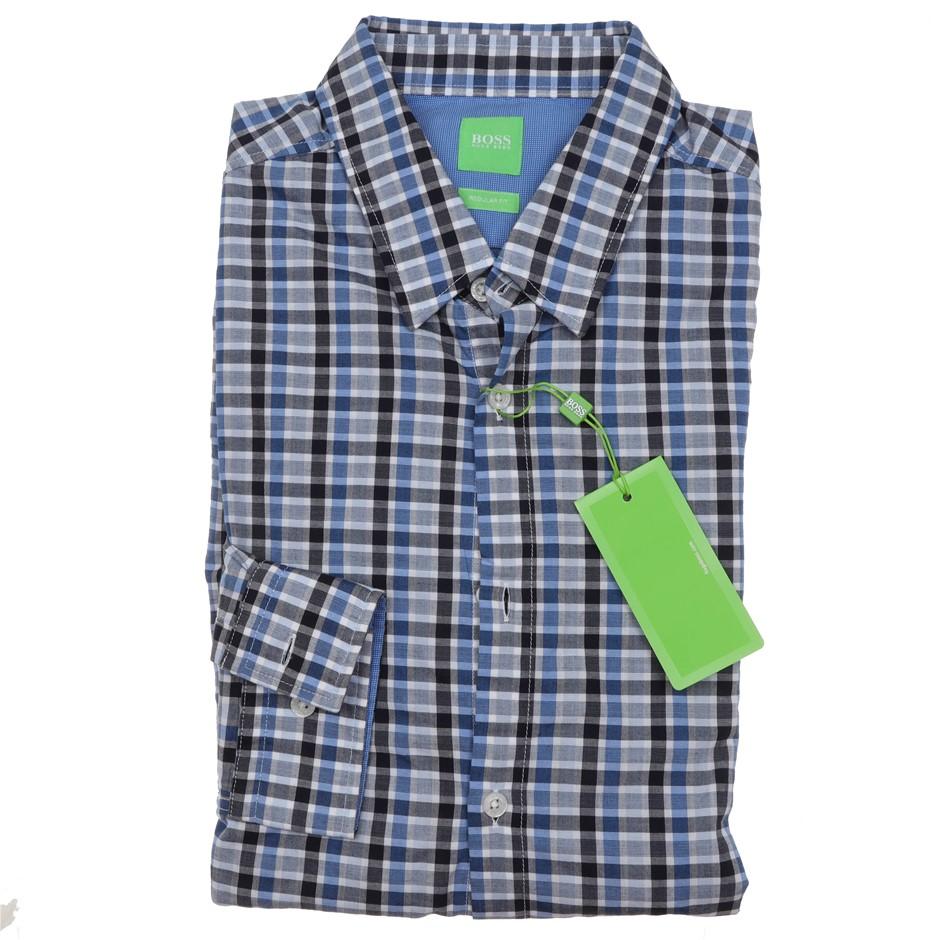 HUGO BOSS Men`s L/S Dress Shirt ,Size 3XL, Regular Fit, RRP $175, Cotton, C