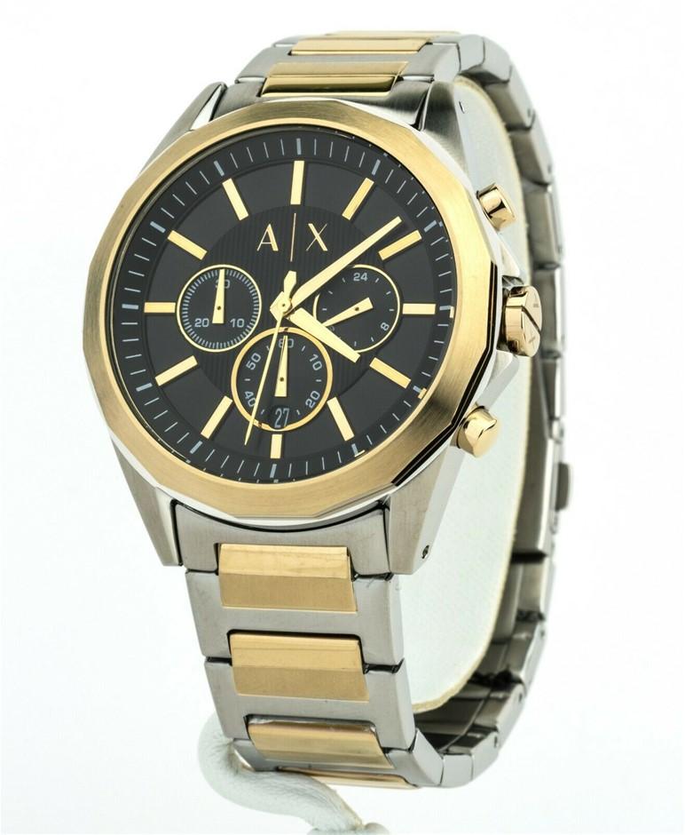 Dual tone new Armani Exchange Chronograph Men's Watch