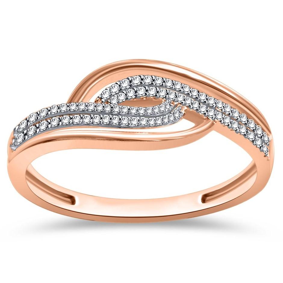 9ct Rose Gold, 0.11ct Diamond Ring