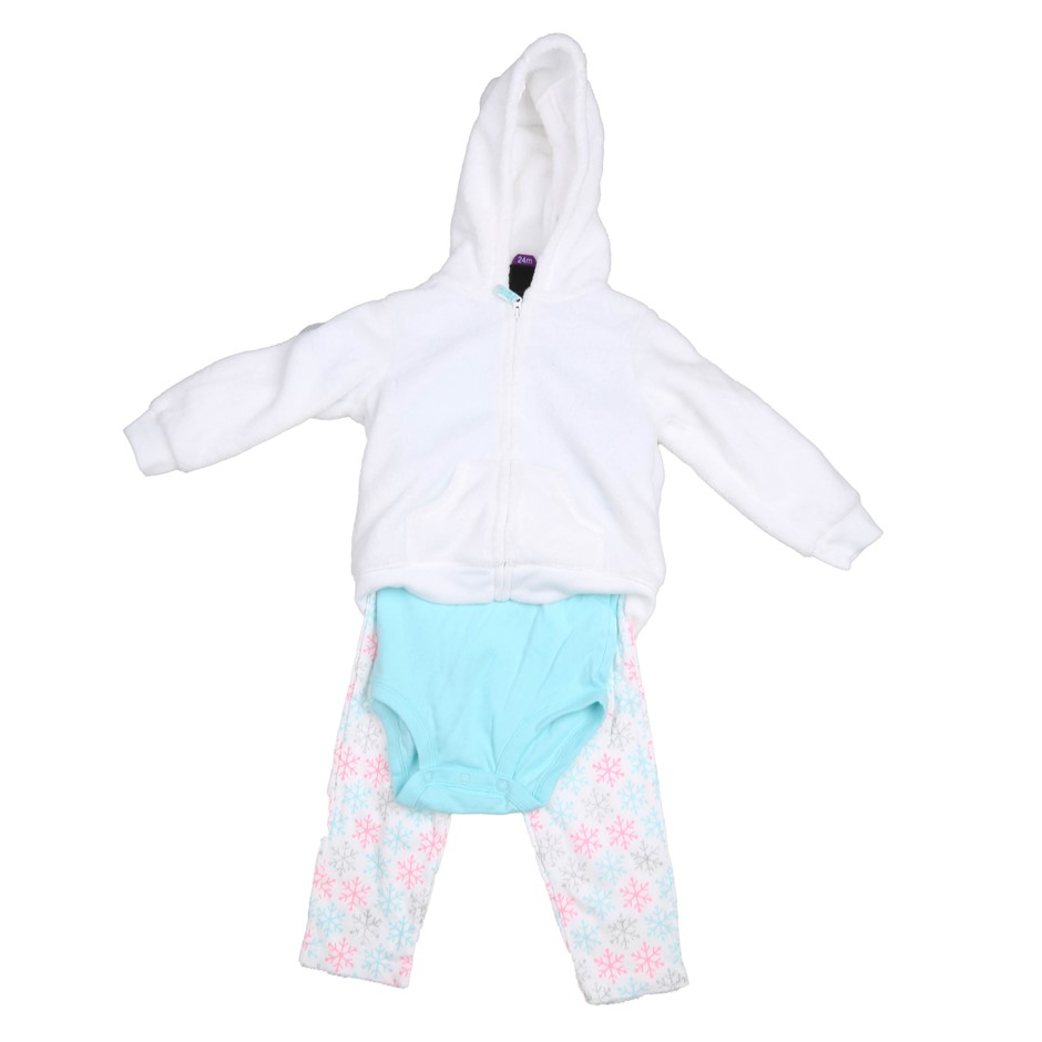 2 x CARTER`S 3pc Girl`s Winter Clothing Sets, Size 18M, Incl; Leggings, Rom