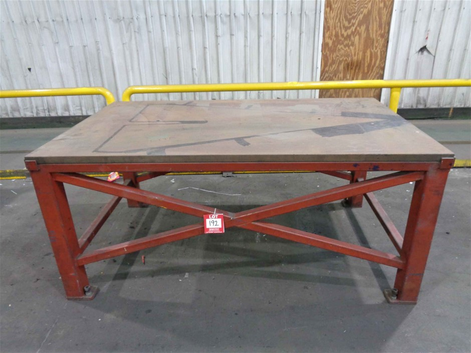 Solid Steel Marking Table, Top Plate 40mm, Dimensions 2000x1200x900