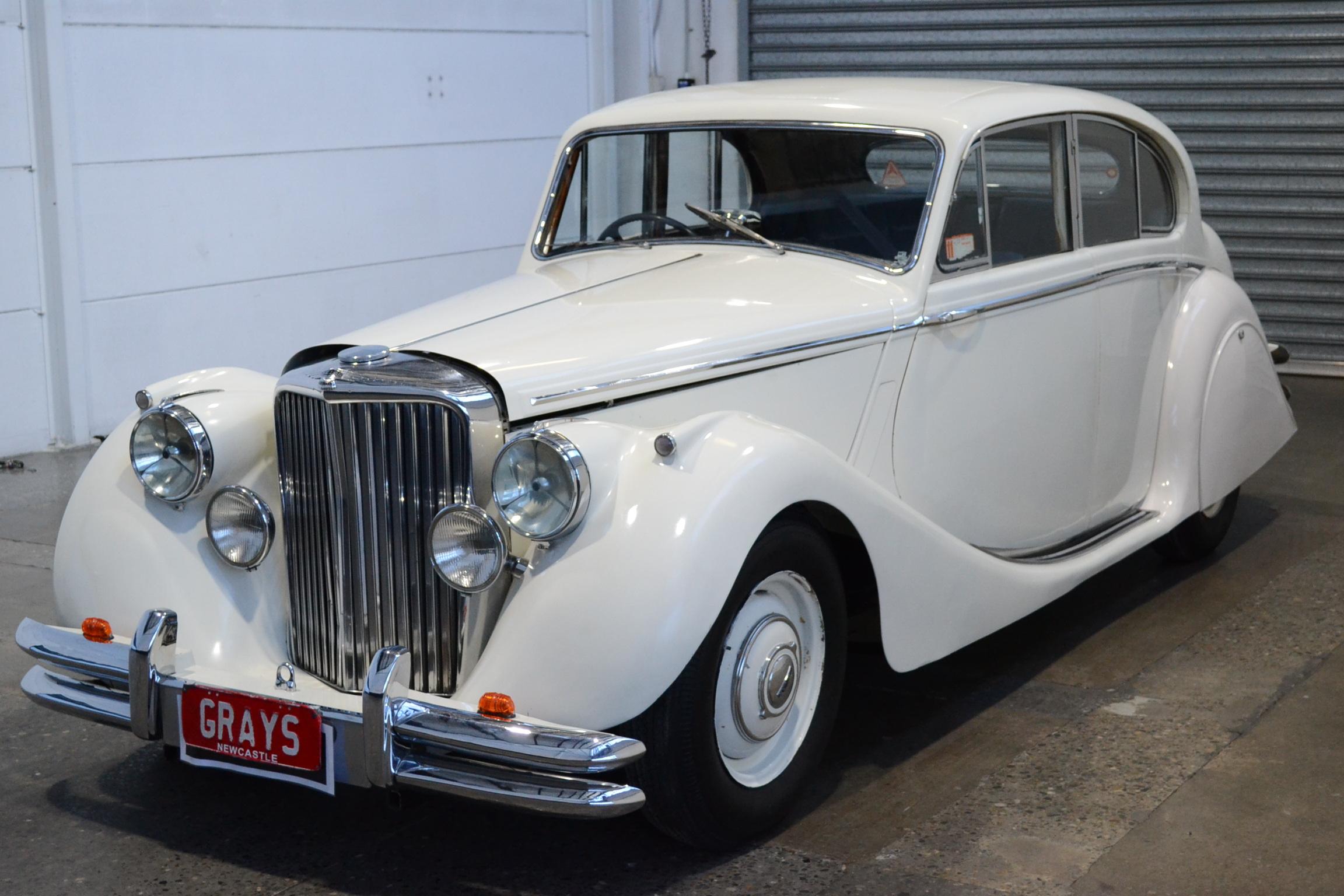 1950 Jaguar MKV (Mark 5) Manual Sedan Old English White