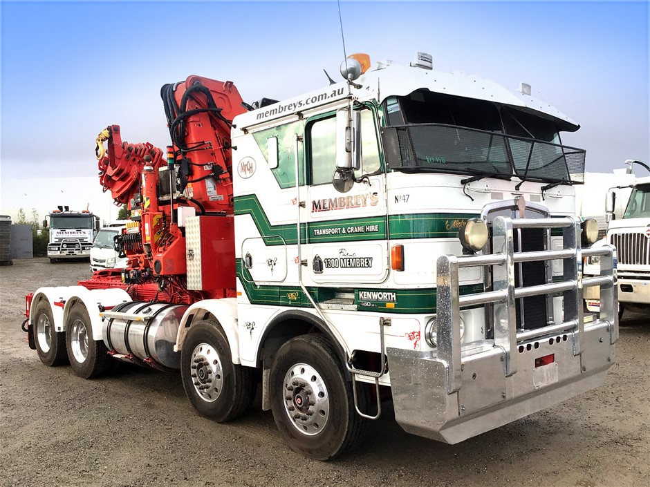 1993 Kenworth K100E 8 x 4 Prime Mover Crane Truck - Cert Feb 2021