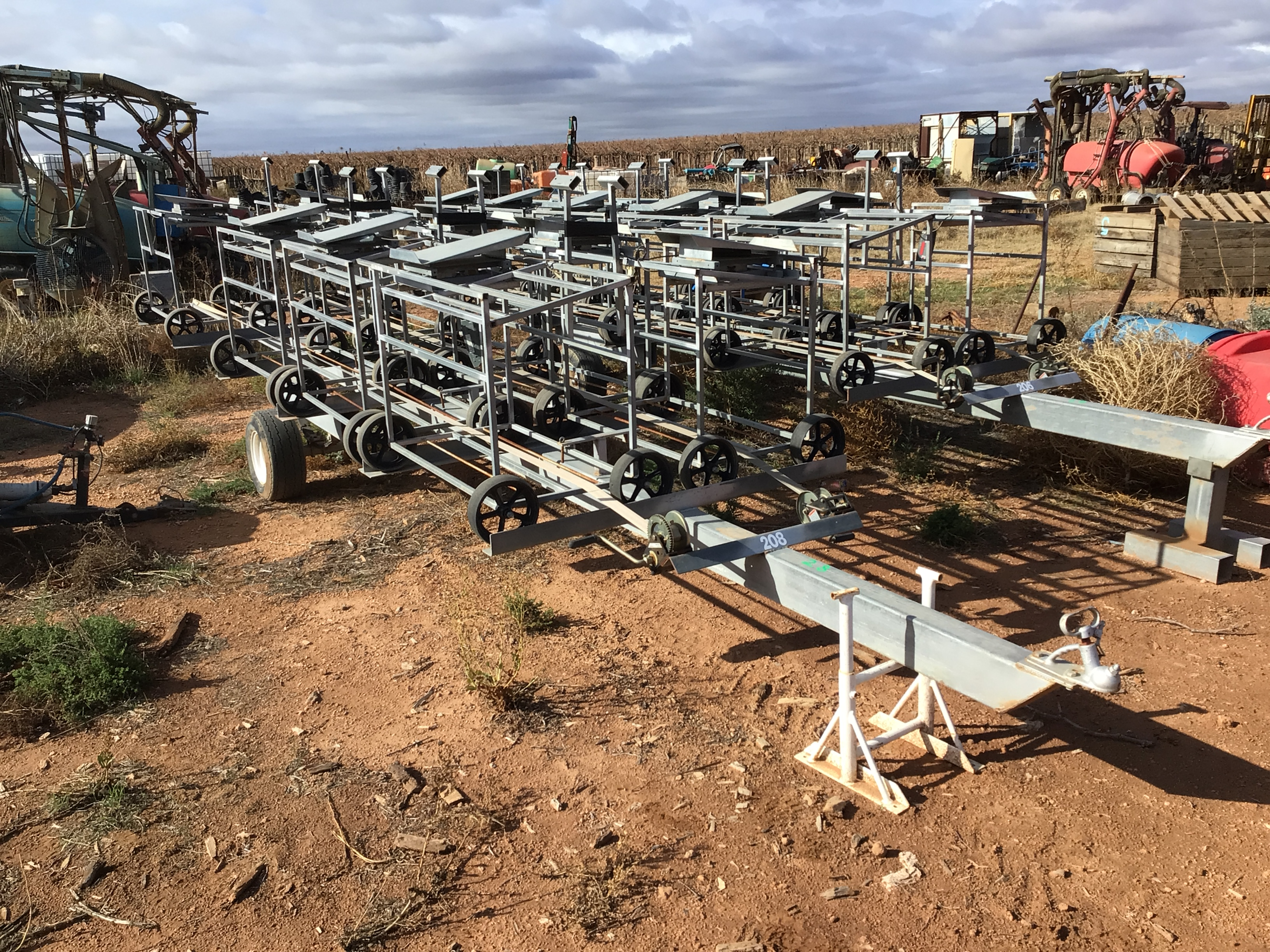 Custom Made Trailer with Picking Trolleys