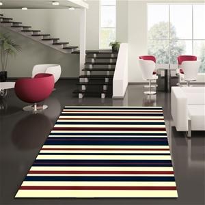Buy Modern Stripes Rug Blue Red White 230x160cm Graysonline Australia