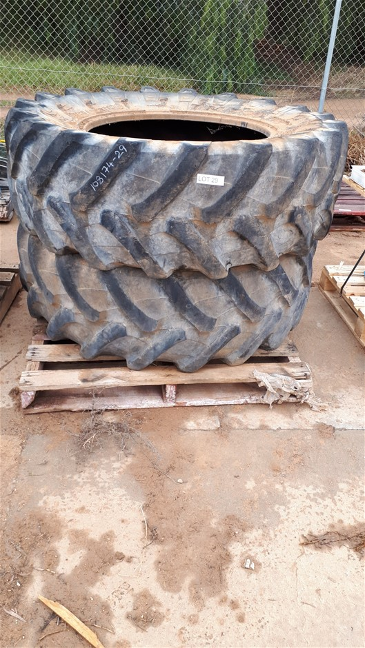 2x Tractor Tyre