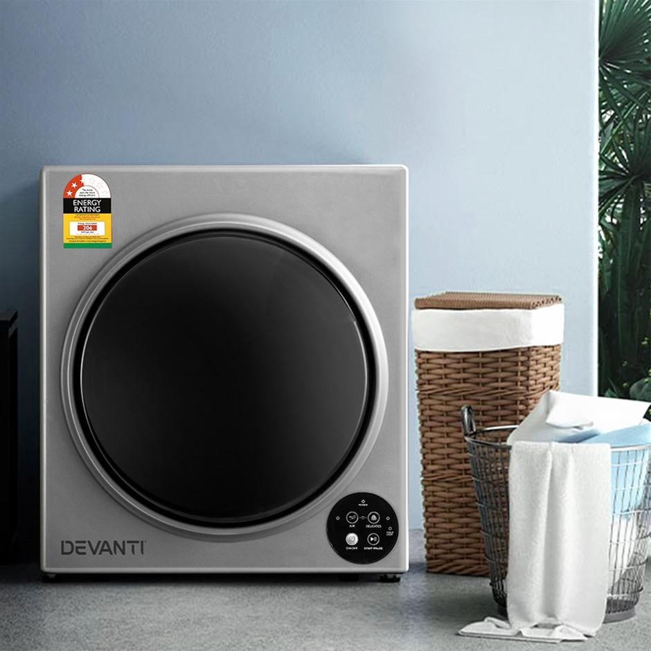 Devanti 5kg Vented Tumble Dryer - Silver
