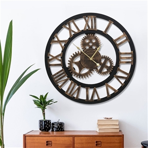 Wall Clock Extra Large Vintage Silent No
