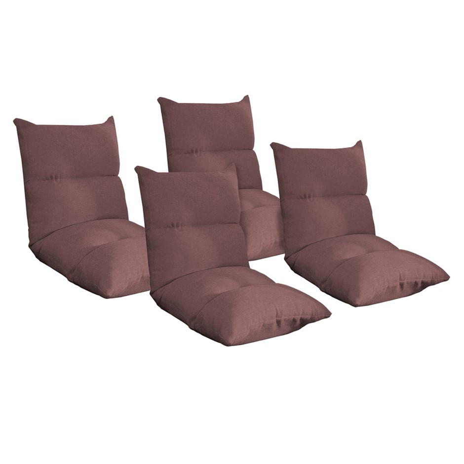 SOGA 4X Lounge Floor Recliner Adjustable Lazy Sofa Bed Folding Game Chair