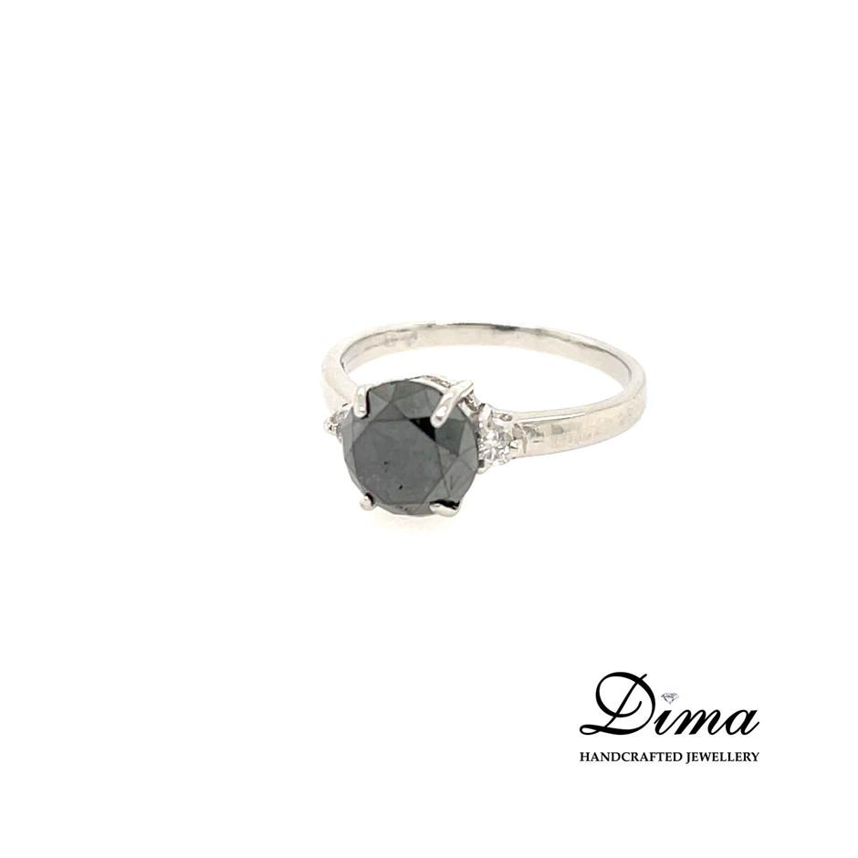 9ct White Gold, 3.12ct Diamond Engagement Ring