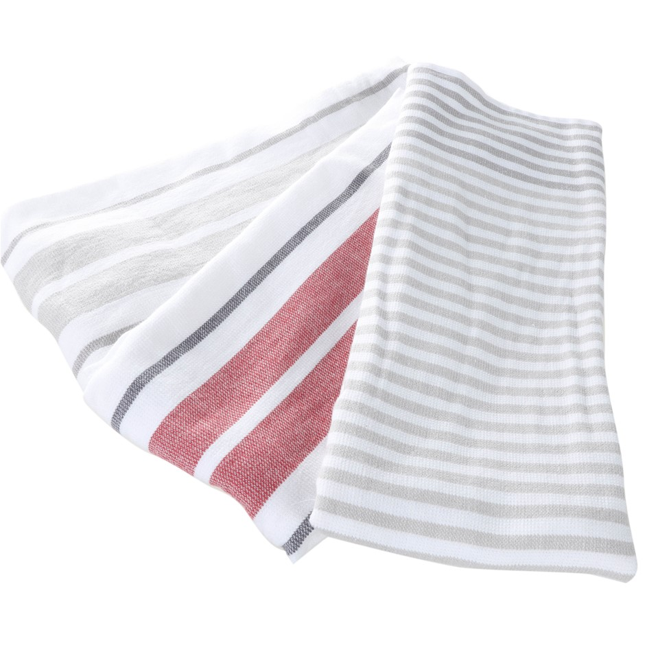 3 x BISTRO Kitchen Hand Towels, 100% Cotton, Multi-coloured. (SN:CC76852) (