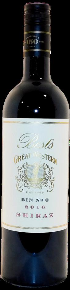 Best's Wines Great Western Bin No 0 Shiraz 2016 (6x 750mL), VIC