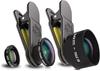 BLACK EYE Pro Kit Tele 3X, Full-Fisheye & HD Macro Clip On Lens, Multi-Comp
