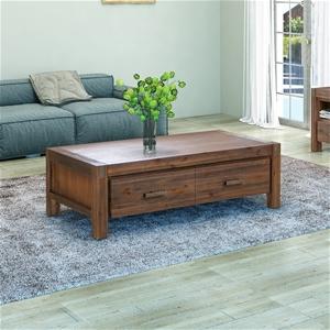 Coffee Table Solid Acacia Wood & Veneer