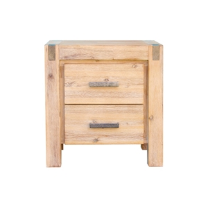 Bedside Table 2 drawers Night Stand Soli