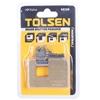 2 x TOLSEN Brass Shutter Padlocks 60mm x 18mm c/w 3 x keys. Buyers Note - D