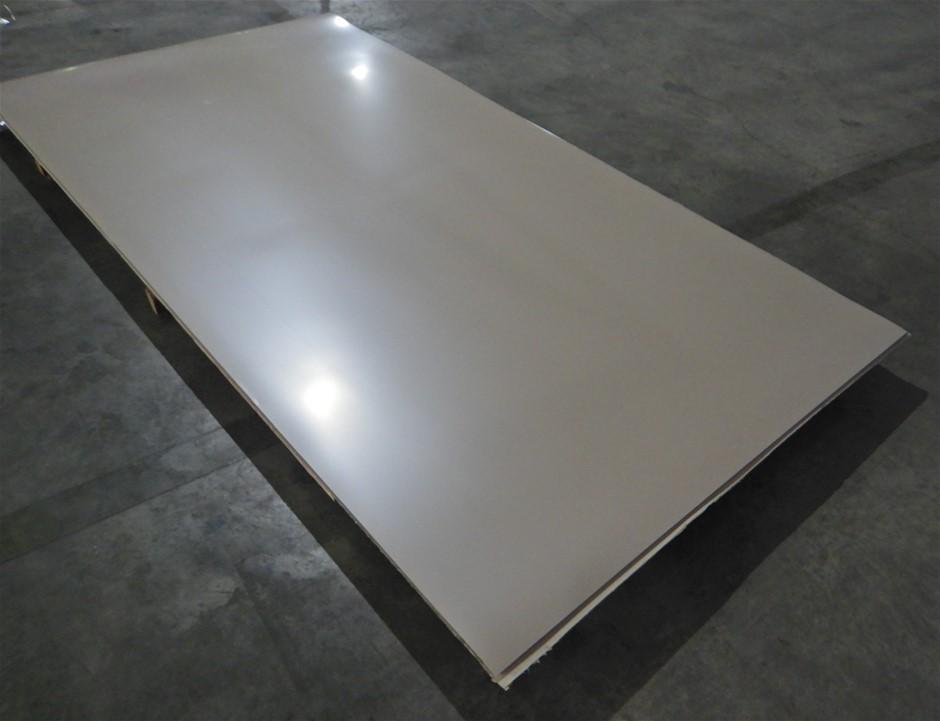 Qty of 10 Cappuccino High Gloss Acrylic Panels (Pooraka, SA)