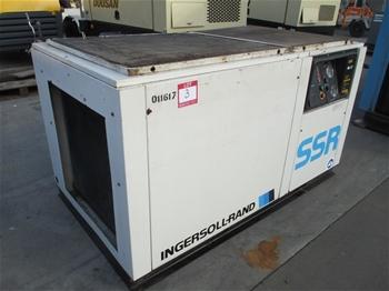 Cyclon 475 sr electric driven air compressor auction 0002 for Ingersoll rand air compressor electric motor