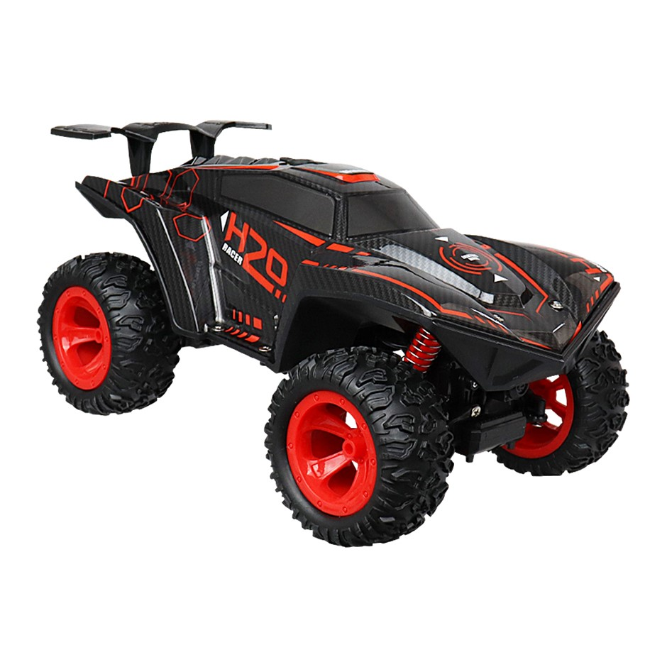 RC Climbing/Off-Road 4WD Car Toy with LED - Black