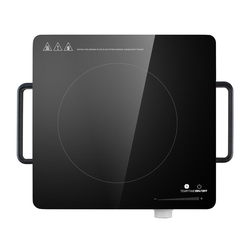 Portable 2200W Electric Ceramic Stovetop - Black Glass