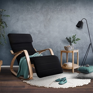Artiss Fabric Rocking Armchair with Adju