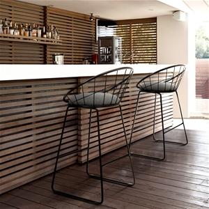 Artiss 2x Nordic Bar Stools Metallic Bar