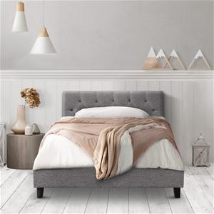 Artiss King Single Bed Frame VANKE Fabri