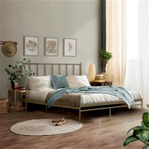 Metal Bed Frame Queen Size Mattress Base