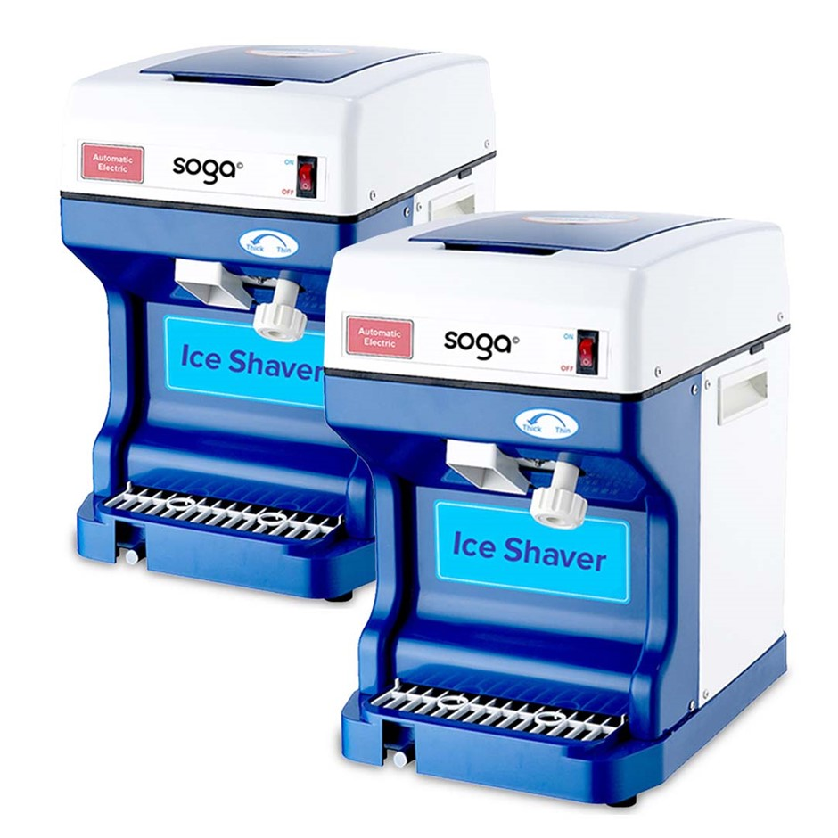 SOGA 2x Ice Shaver Commercial Electric SS Ice Crusher Machine 120KG/h 68