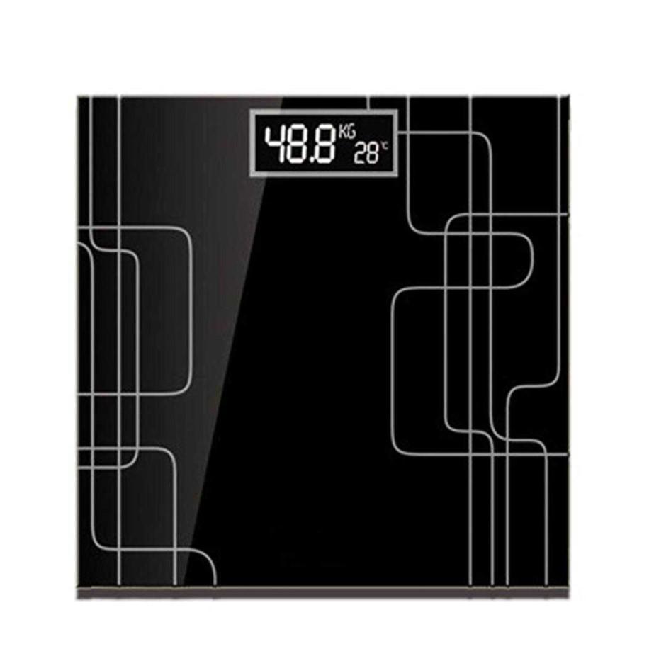 SOGA 180kg Elec. Talking Scale Wght Fitness Glass Bathroom Scale LCD Disp.