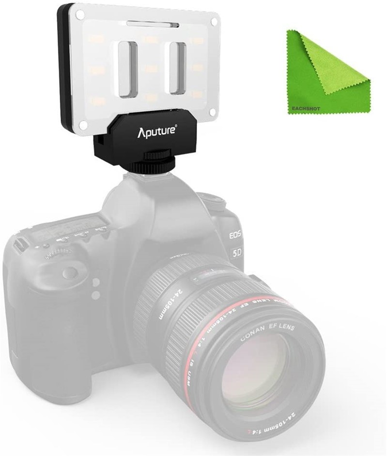 APUTURE Camera Video Light With Transparent Color Filter, Amaran LED Mini L