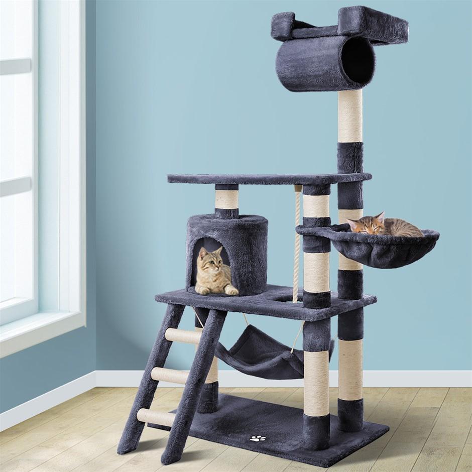 BEASTIE Cat Tree Scratching Post Scratcher Tower Condo Furniture Wood 140cm
