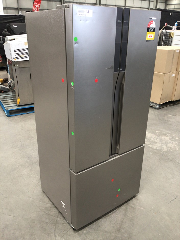 Panasonic 551L French Door frige with brushed Steel Finish - NR-CY55CPSAU