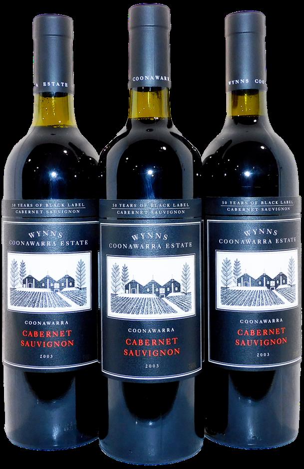 Wynns Black Label Cabernet Sauvignon 2003 (3x 750mL), SA