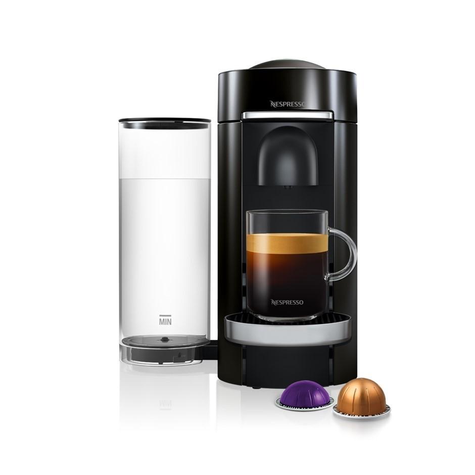 BREVILLE NESPRESSO Vertuo Plus Coffee Machine, Black. N.B. Minor use. Buyer