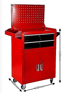 2-Drawer Lockable Mobile Tool Cabinet wi