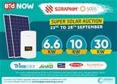 6.6 - 30kw Solar Auction with Standard Grid Installation