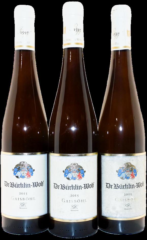 Dr. Burklin Wolf Gaisbohl Ruppertsberger Dry Riesling 2015 (3x 750mL), DEU