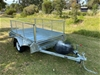 8 x 5 Single Axle Braked Trailer 1500kg + 900mm Cage