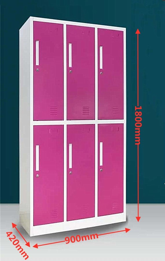 6-Door Locker - Rose
