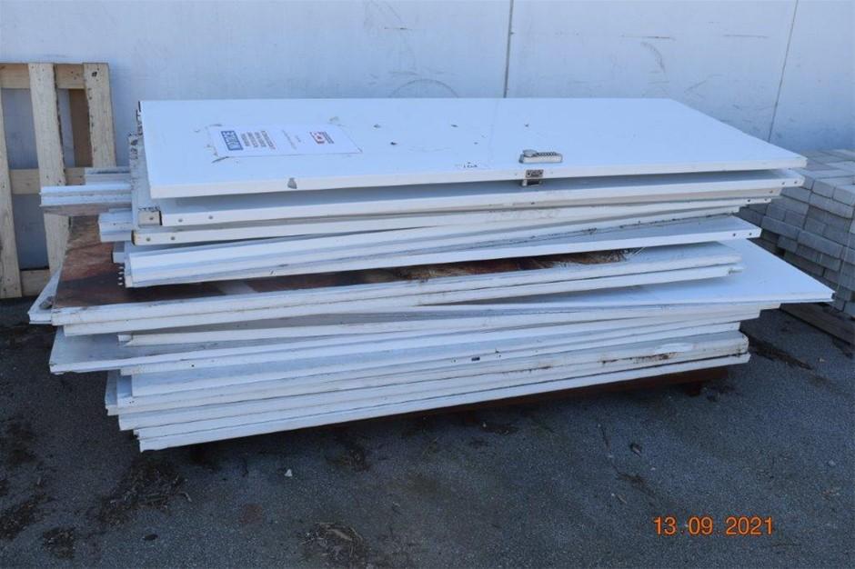 Lot of 17 PVC Core Hoarding Panels/ Doors