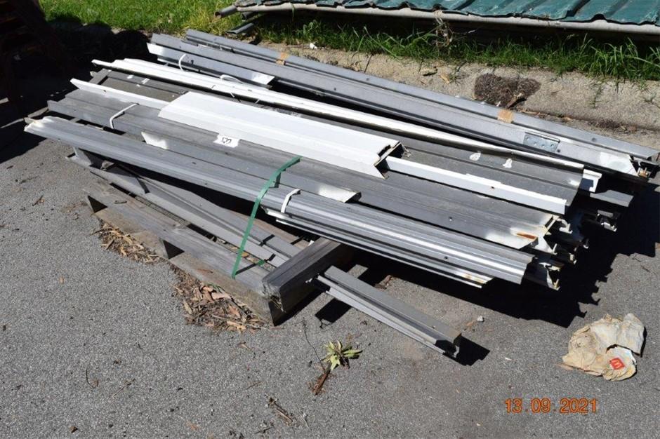 Pallet of Metal Door Frames and Components