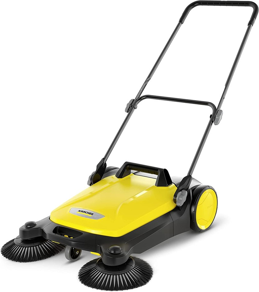 KARCHER S4 Twin Manual Outdoor Push Sweeper, Yellow/Black (1.766-360.0). NB