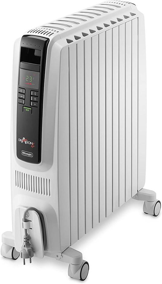 DE'LONGHI Dragon 4, Portable Oil Column Heater, 2400W, White (TRD42400ET).