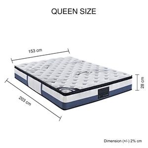 Queen Mattress Latex Pillow Top Pocket S
